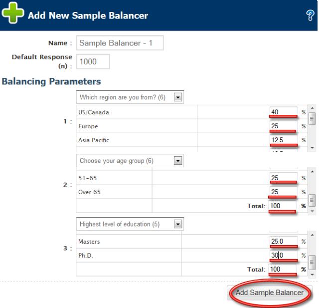 Sample Balancer 2
